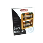 Apollo Filled Schwartz Spice Rack Set including 10 Jars