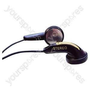 Lightweight Stereo In-Earphones - Lead Length (mm) 1200 (1.2m)