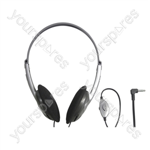 Lightweight Stereo Headphones with Volume Control - Lead Length 1.2m