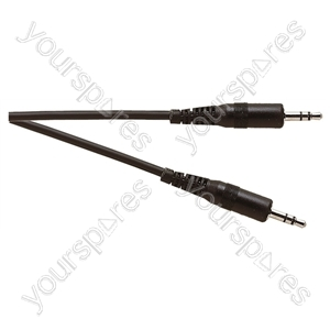 Standard 3.5 mm Stereo Jack Plug to 3.5 mm Stereo Jack Plug Lead - Lead Length (m) 1.20