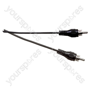 Standard Phono Plug to Phono Plug Screened Lead - Lead Length (m) 1.2