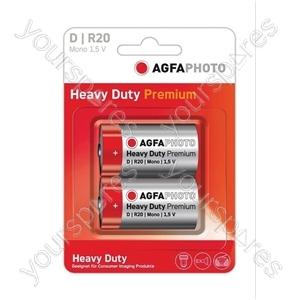 AGFA PHOTO Zinc Chloride Battery - Type D