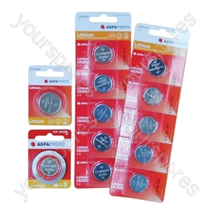 AGFA Lithium Button Cells Blister of 5 - Type CR2025