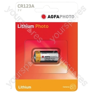AGFA PHOTO Lithium Cell (Card Of One) - Type CR123A-C1