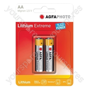 AGFA PHOTO Lithium Extreme Battery. Blister Card of 2 - Type AA