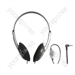Lightweight Stereo Headphones with Volume Control - Lead Length 5m