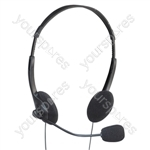 Stereo Multimedia Headphones with Mic and Extended 2.5m Lead