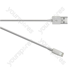 USB 2.0 to iPod/iPhone 5 Lightning Transfer and Charge Cable