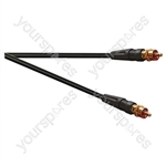 Premium Video Gold Plated Phono to Phono lead With 75 Ohm Coax Cable - Lead Length (m) 1.5