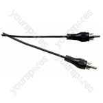 Standard Phono Plug to Phono Plug Screened Lead - Lead Length (m) 5