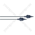Standard 3.5 mm Fibre Optic Plug to 3.5 mm Fibre Optical Plug Optical Lead Black - Lead Length (m) 0.55