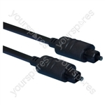 Premium Toslink Plug to Toslink Plug Fibre Optical Lead 1m