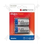 AGFA PHOTO Alkaline Batteries - Type D
