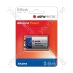 AGFA PHOTO Alkaline Batteries - Type PP3