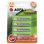 AGFAPHOTO Rechargeable Nimh Battery - Pack of 4 - Size AA
