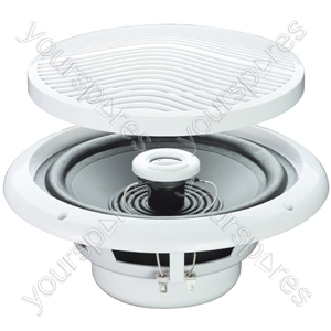 "e-audio White 5"" 80W 2-Way Moisture Resistant Ceiling Speakers - Impedance (Ohms)  8"