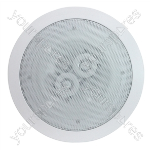 e-audio Round Ceiling Speaker With Duel Offset Tweeters