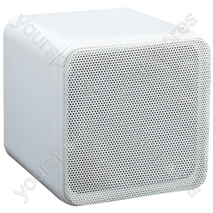 "e-audio 4"" Full Range 80W Dual Cone Mini Box Speakers - Colour White"