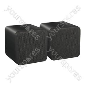 e-audio Mini Box Speakers - Colour Black