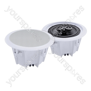 e-audio Round Ceiling Speakers With Twin Offset Tweeters