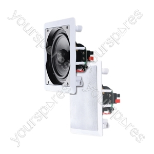 e-audio Square Ceiling Speakers With Tweeter - Size 6.5""