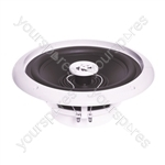 e-audio Round Ceiling Speaker With Moisture Resistant Cone and Polymer Tweeter - Cut Out (mm) 135 Diameter