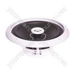 e-audio Round Ceiling Speaker With Moisture Resistant Cone and Polymer Tweeter - Cut Out (mm) 187 Diameter