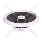 e-audio Round Ceiling Speaker With Moisture Resistant Cone and Polymer Tweeter - Speaker Type 8 Inch
