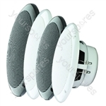 e-audio Round Ceiling Speaker With Dual Moisture Resistant Cone - Impedance (Ohms)  8