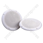 e-audio Round Ceiling Speaker With Dual Moisture Resistant Cone - Impedance (Ohms)  16