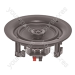 "e-audio 8"" 180W 2-Way Round Ceiling Speakers with Directional Tweeter"