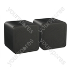 "e-audio 4"" Full Range 80W Dual Cone Mini Box Speakers - Colour Black"