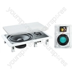 "e-audio White 6.5"" 2-Way 120W In-Wall Speaker With Driver and Tweeter"
