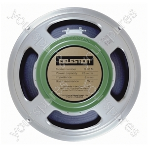 Celestion Silver G12M Greenback Chassis Speaker 25W - Impedance (Ohms)  8