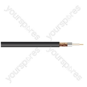 Standard Digital RG6U Satellite 75 Ohm Cable - Colour Black