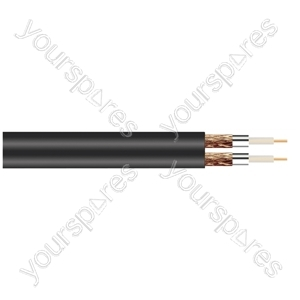 Twin RG6U Satellite 75 Ohm Cable