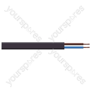 Oval 2 Core 0.5mm PVC Flex 3A 2192Y 100m - Colour Black