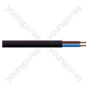 Round 2 Core 0.75mm PVC Flex 6 A 2182Y - Colour Black