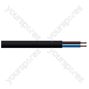 Round 2 Core 1mm PVC Flex 10A 3182Y - Colour Black