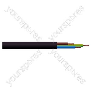 Round 3 Core 0.75mm PVC Flex 6A 3183Y - Colour Black