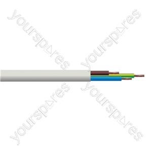Round 3 core 1.5mm PVC Flex 15A 3183Y Hank - Lead Length (m) 10
