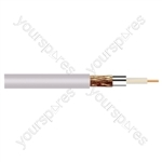 Standard Digital RG6U Satellite 75 Ohm Cable - Colour White