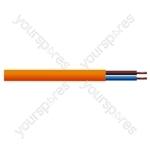Round 2 Core 0.75mm PVC Flex 6 A 2182Y - Colour Orange