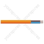 Round 2 Core 1mm PVC Flex 10A 3182Y Hank - Lead Length (m) 5