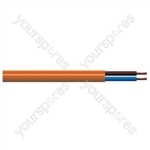 Round 2 Core 1mm PVC Flex 10A 3182Y - Colour Orange
