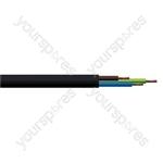 Round 3 Core 1.mm PVC Flex 10 A 3183Y - Colour Black