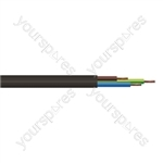 Round 3 core 1.5mm PVC Flex 15A 3183Y Hank - Lead Length (m) 5