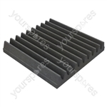 60 X 60 X 5cm Foam Acoustic Tiles (Pack of 8) - Colour Charcoal Grey