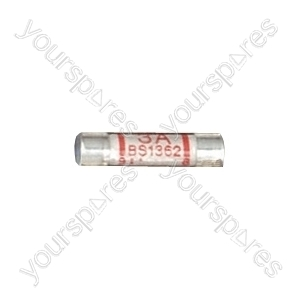 Domestic Mains Fuses Pack of 10 - Rating (A) 3