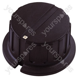 Black Pointer Rotary Knob with White Indicator - Knob Dia 24x20mm